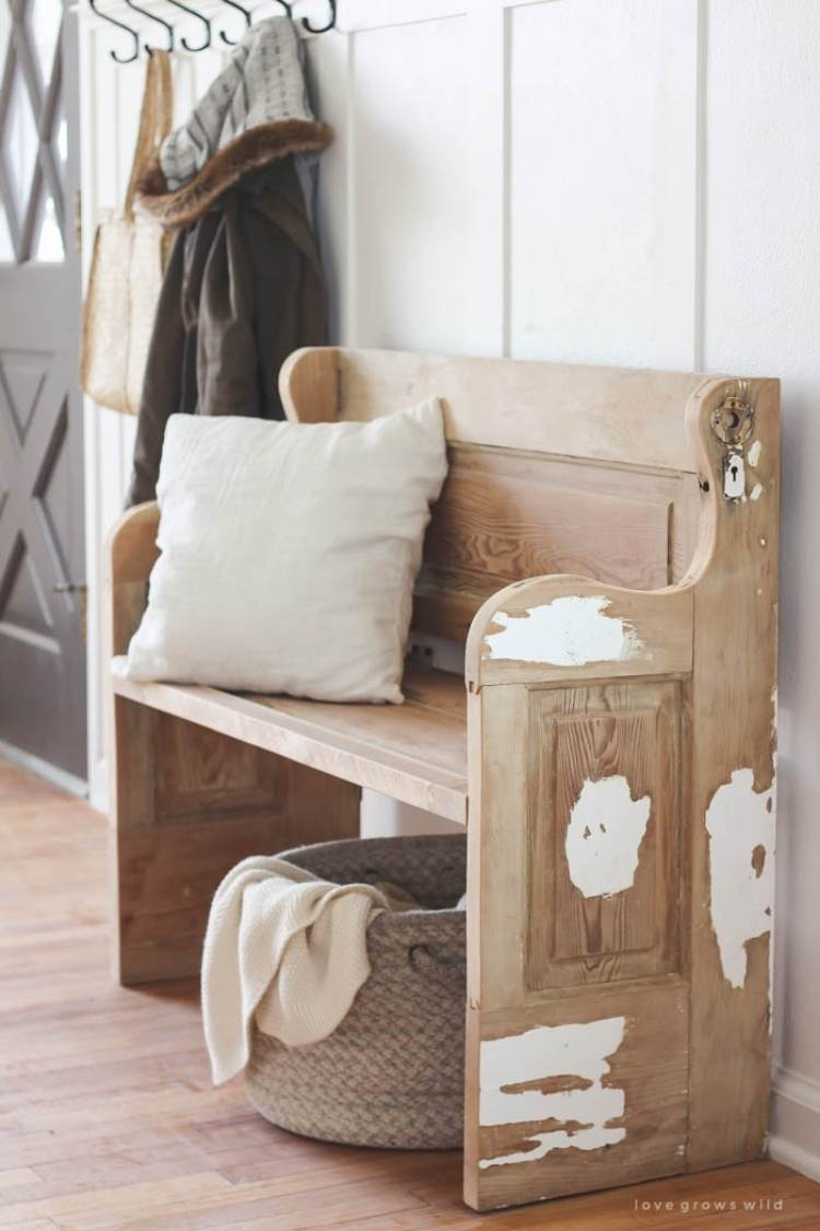 Reuse old doors - bench made from an old door