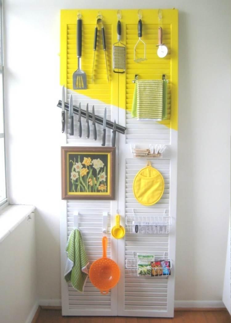Reuse old doors - door kitchen organizer