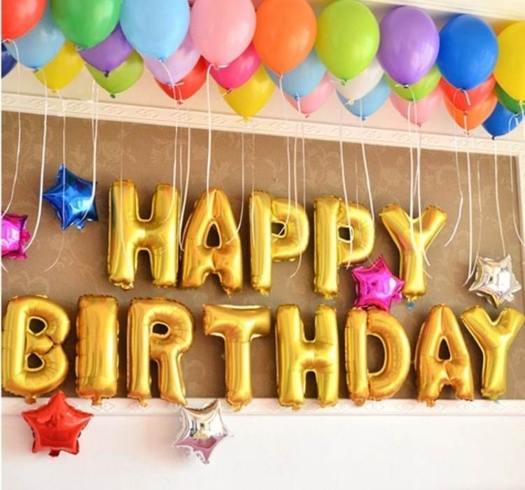 Birthday Ideas- picture of letter balloons for birthday message