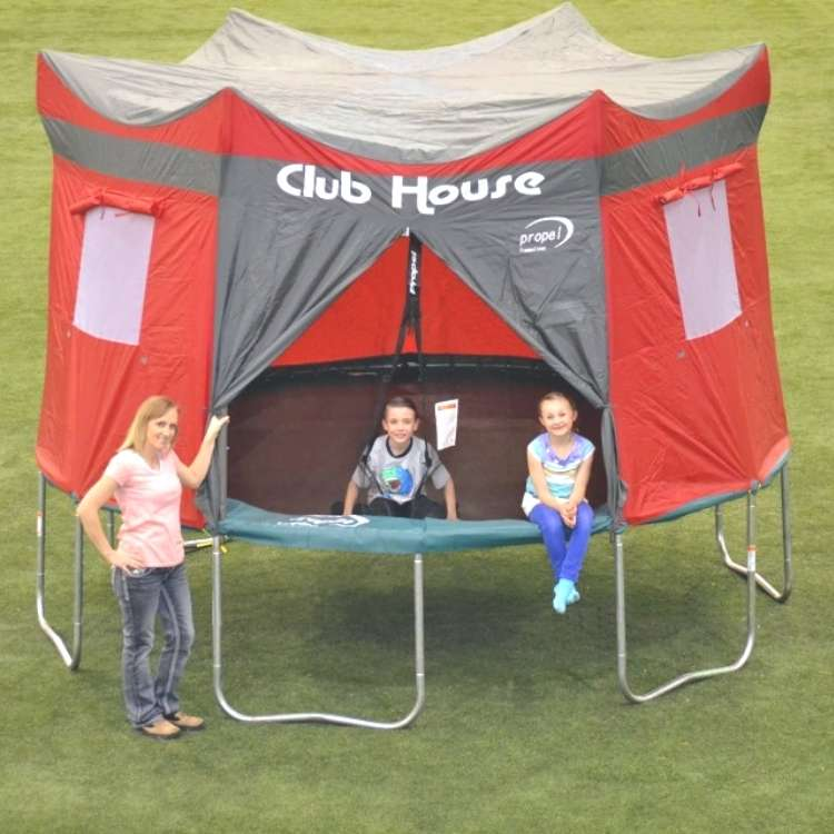 Trampoline with cover