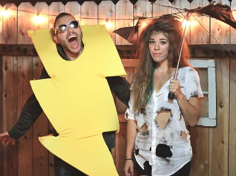 Easy couples costume - struck by lightening couples costumes