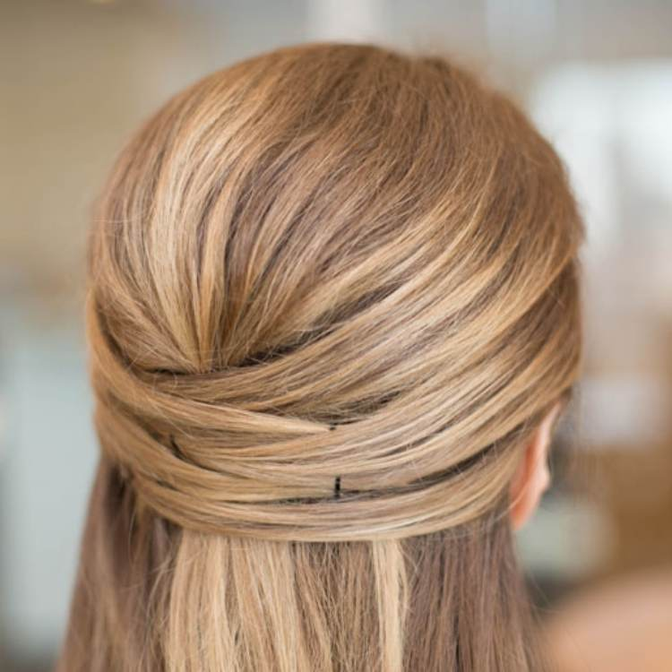 Simple Half-up Hairstyle with cross