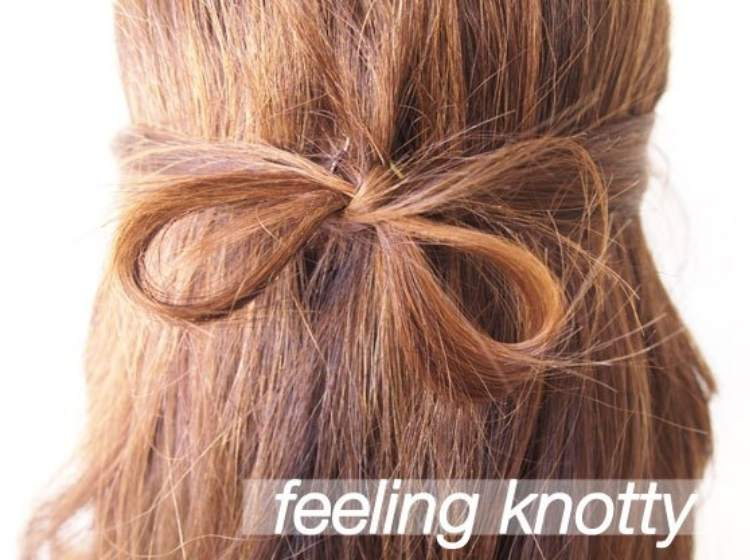 Simple Half-up Hairstyle with bow