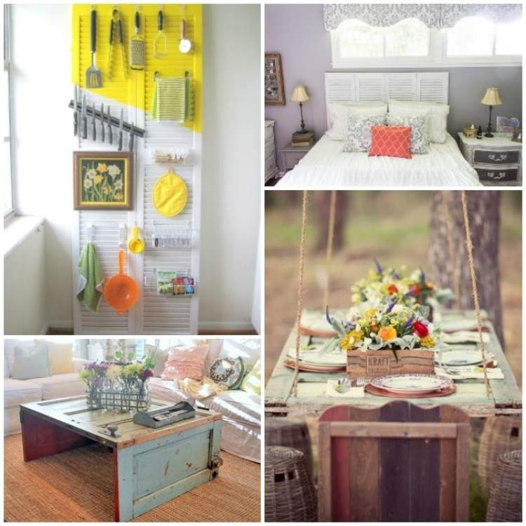 Collage - Head board, storage, coffee table, outdoor table