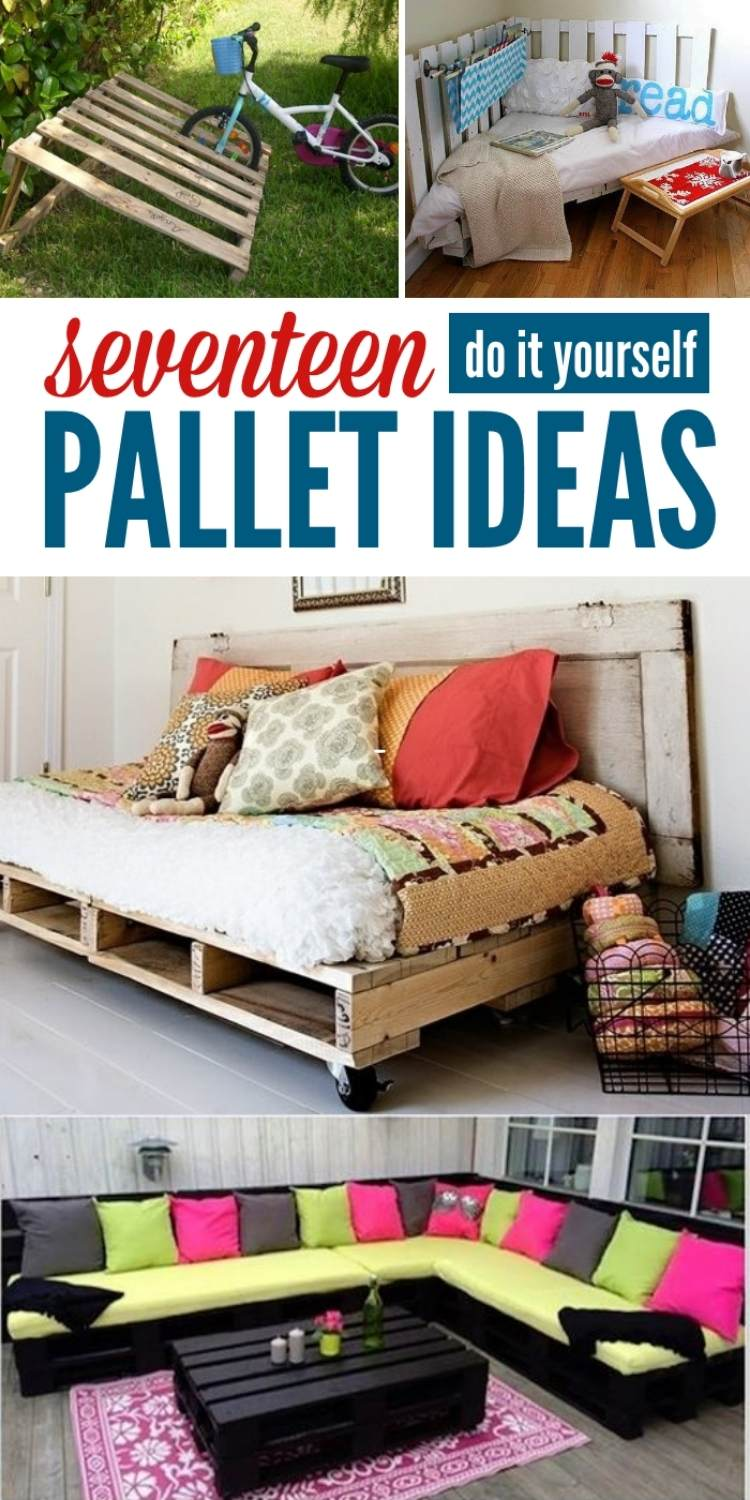17 pallet ideas collage bike rack, bed, coffee table