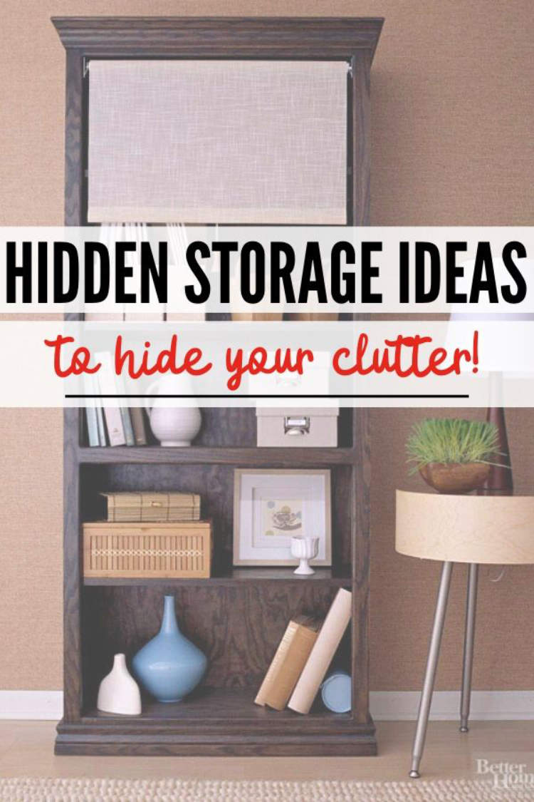 Hidden storage ideas to declutter your home