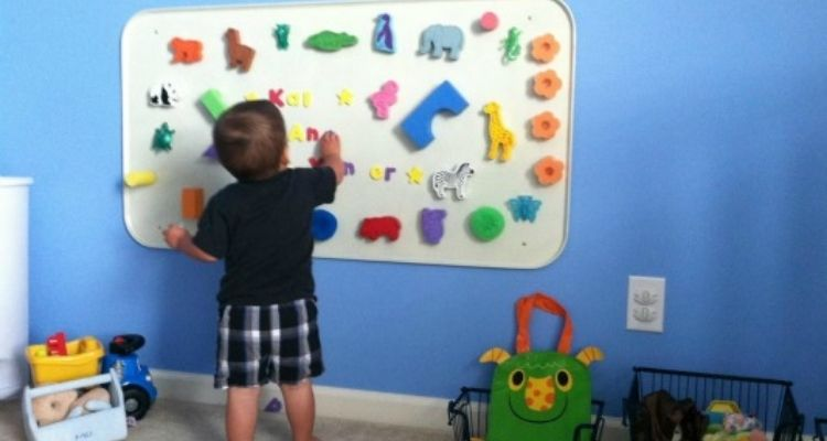 wall magnetic board for kids room organization