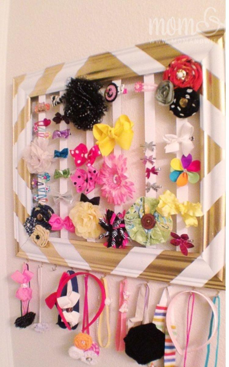 hair accessory kids room organization ideas