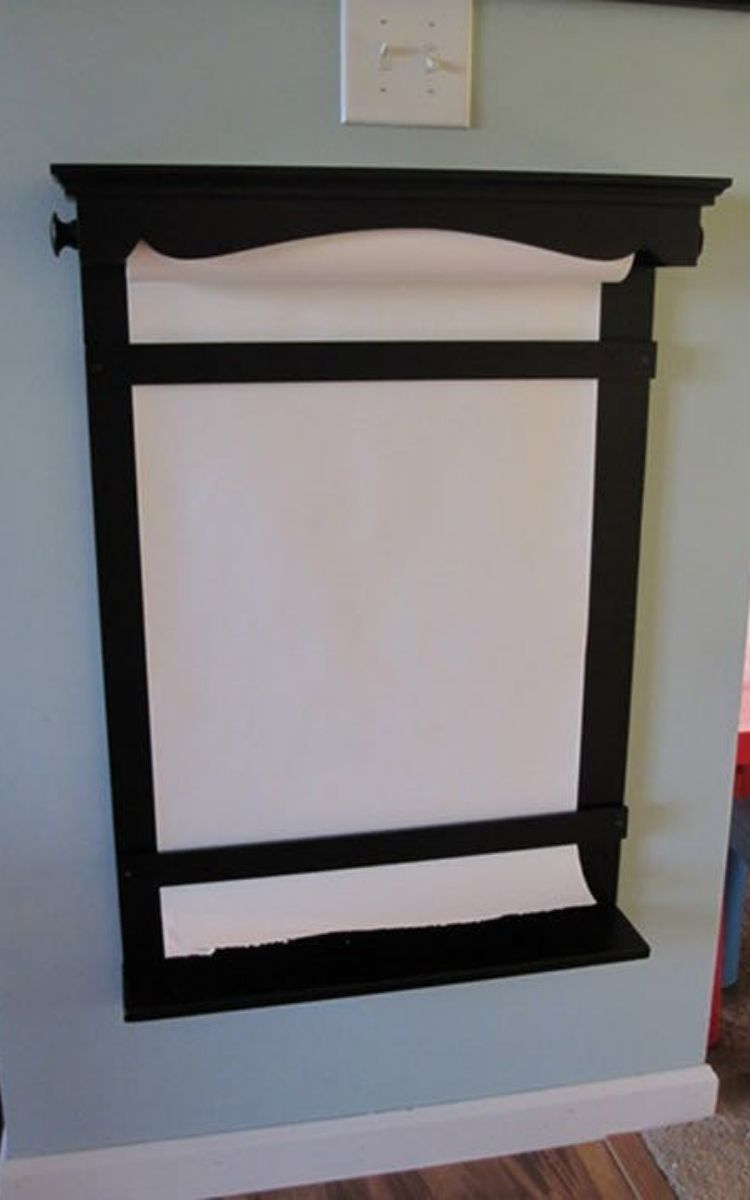wooden wall easel for kids room