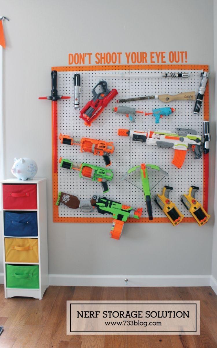 pegboard storage for kids room organization