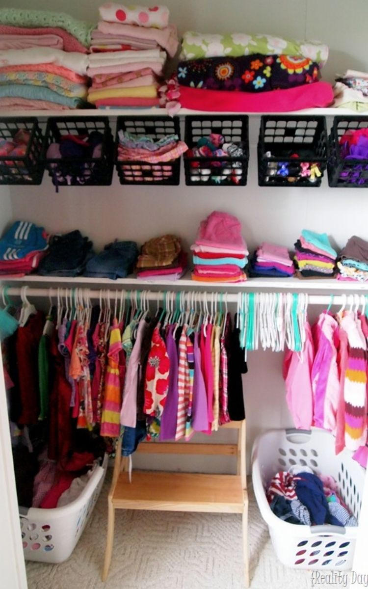 Baskets for closet organization