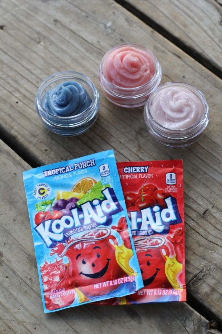 Kool-Aid packets to make homemade lip gloss that is perfect for any slumber party