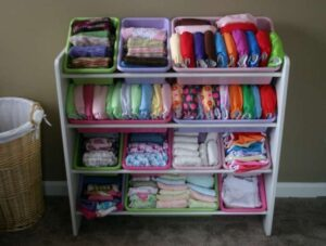 plastic storage bins baby clothing organization