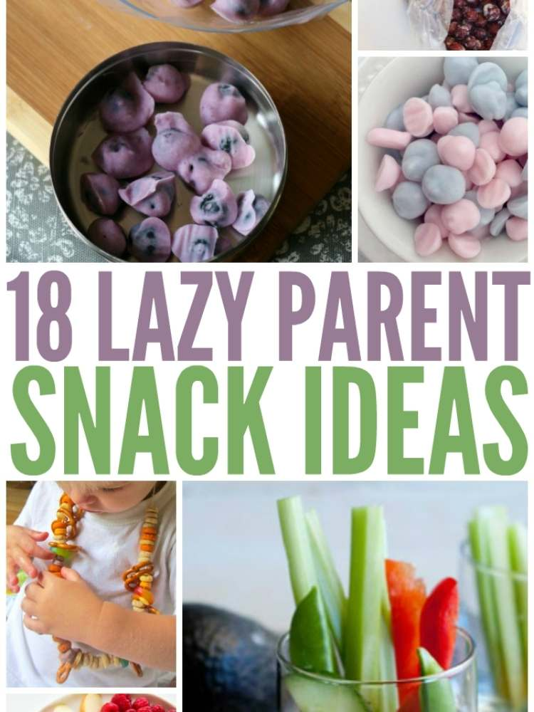 snack ideas for busy moms or lazy parents- pictures of simple and easy snack ideas for kids