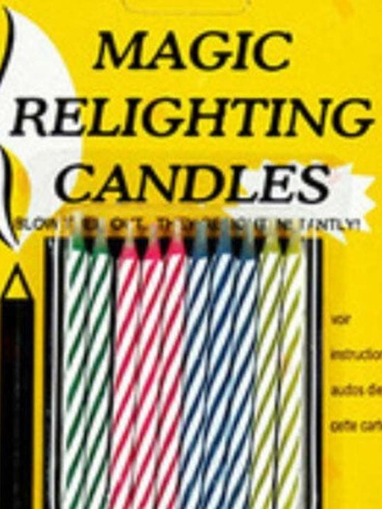 Fun Birthday Prank Ideas- picture of magic relighting candles for birthday cake