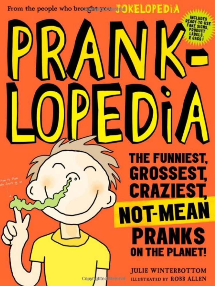 Fun Prank Ideas- picture of a prank book