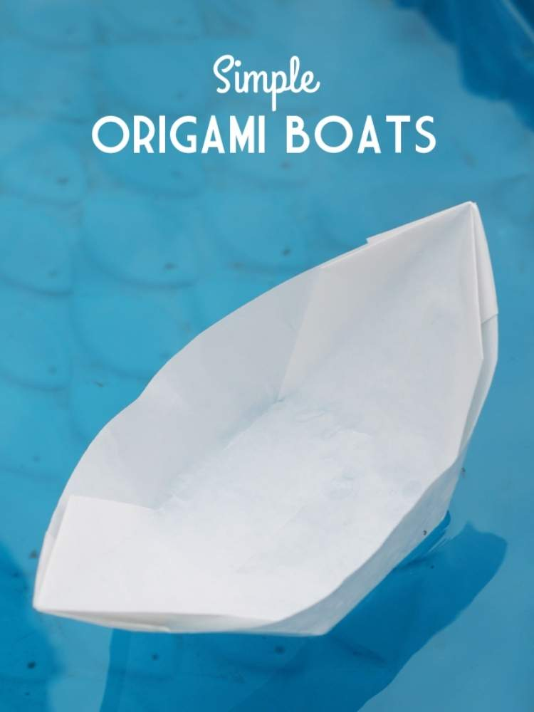 Picture of origami boat made from wax paper