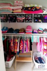 Crate baby clothes storage