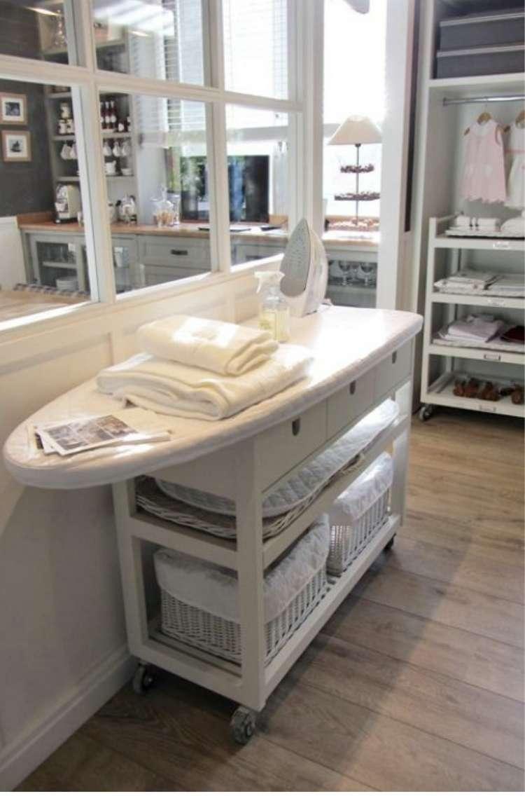 Ikea Hack Ironing Board on Wheels
