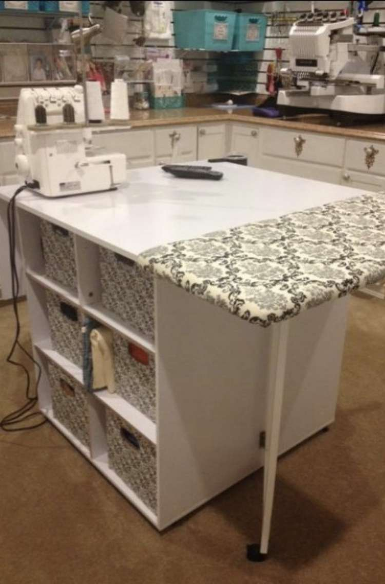 Craft Table with Ironing Board Pad