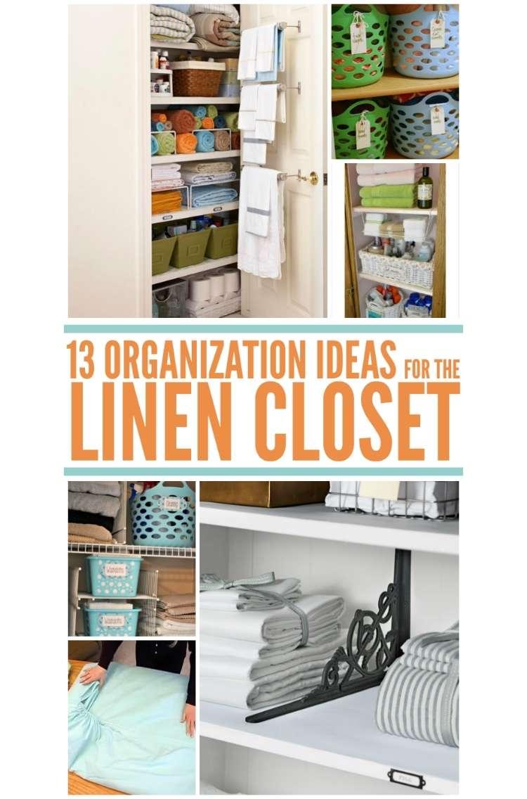 20 Brilliant Linen Closet Organization Ideas