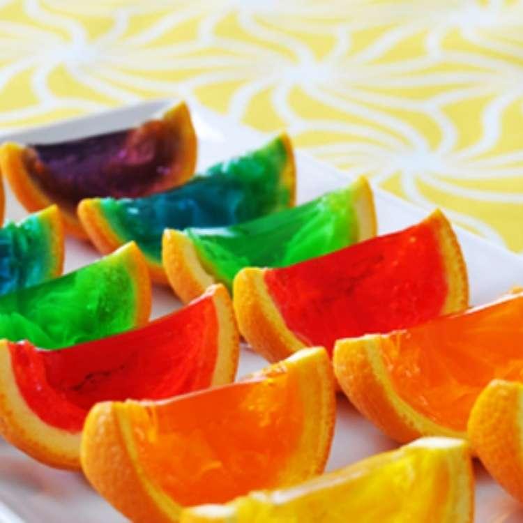 Orange Peel Uses - assorted Jello-orange-wedges