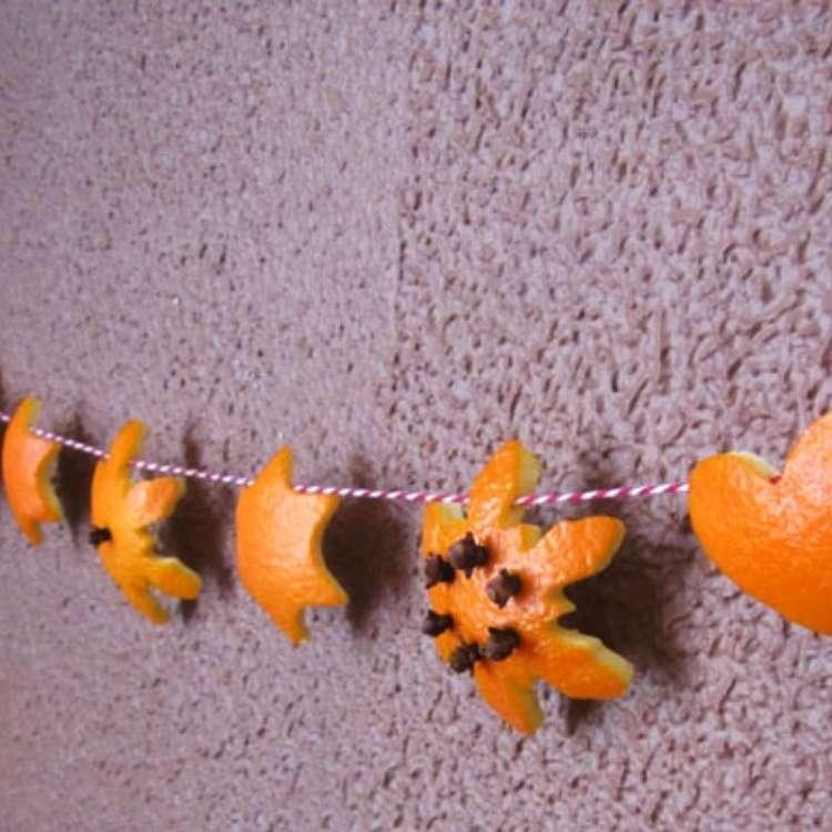 Orange Peel Uses - Orange Peel Garland