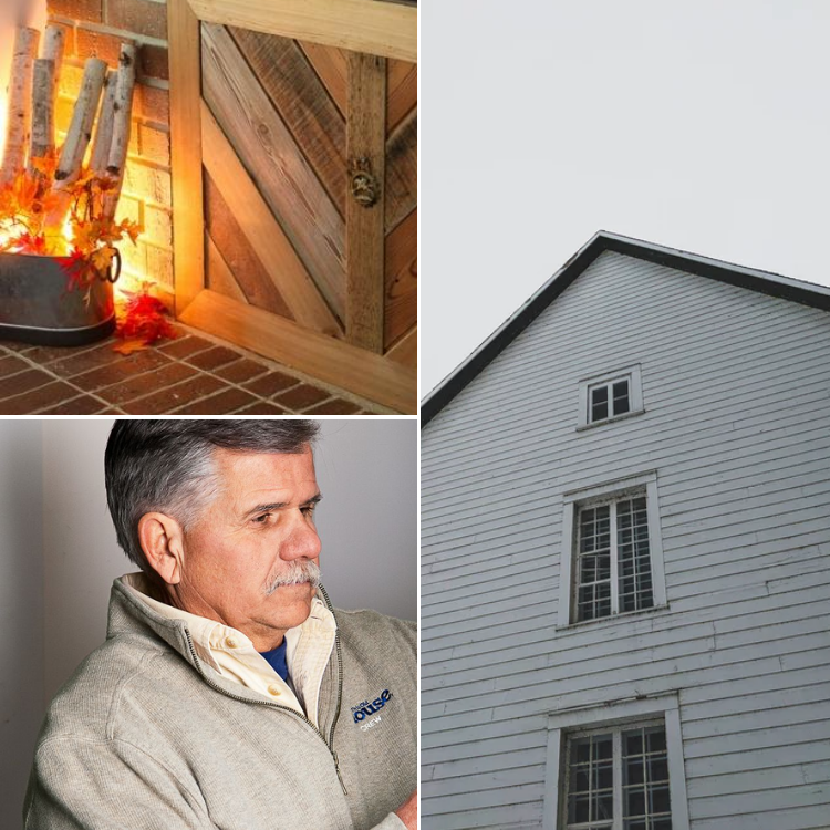 Low Tech Ways to Solve a Drafty House - fireplace, outside house and layers