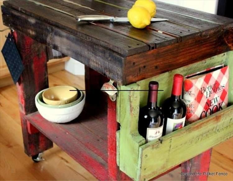 DIY pallet ideas - kitchen island