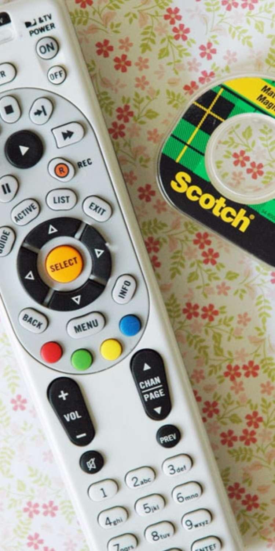 April fools prank remote with scotch tape