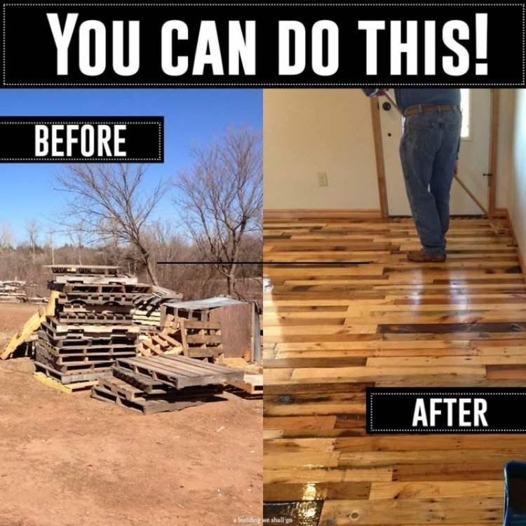 DIY pallet ideas for flooring