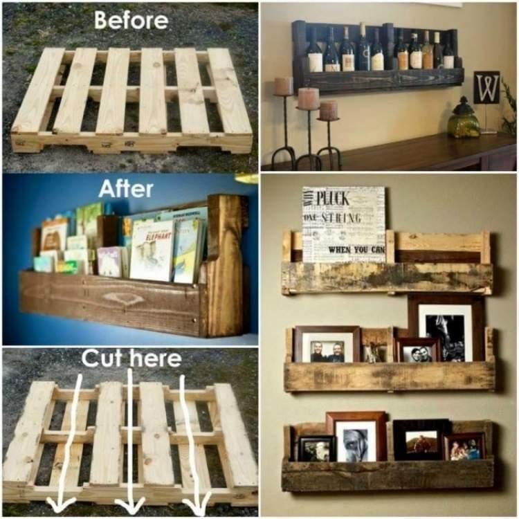 Book shelf DIY pallet idea