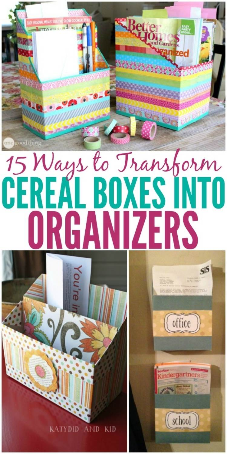 ideas for cereal box organizers - college of letter supply organiers, wall files, and paper organizers