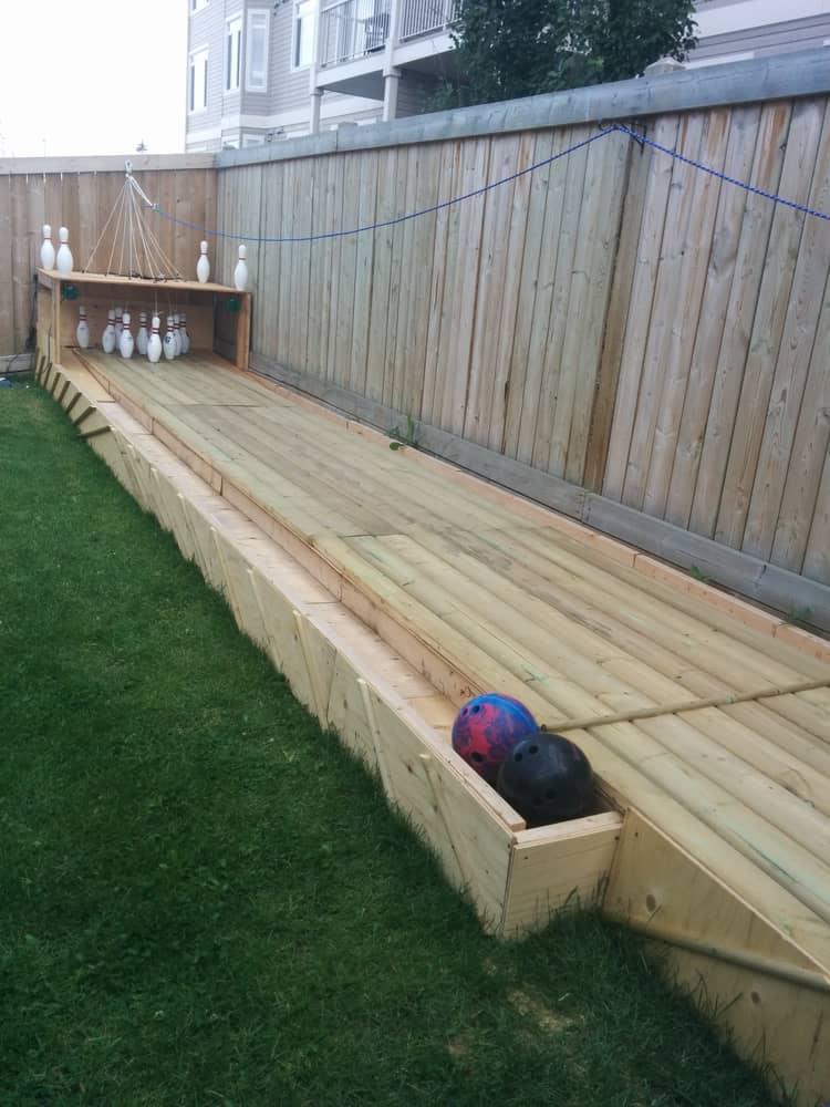 Backyard DIY Ideas - bowling alley