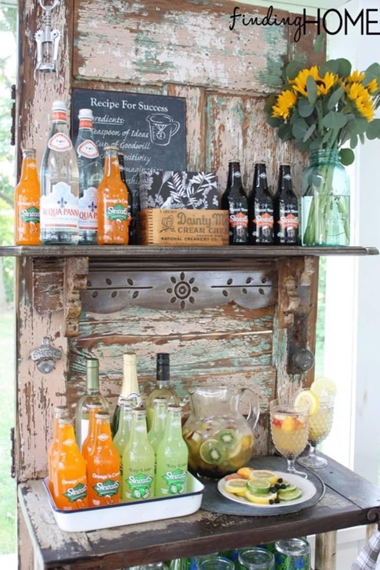 Backyard DIY Ideas - beverage station