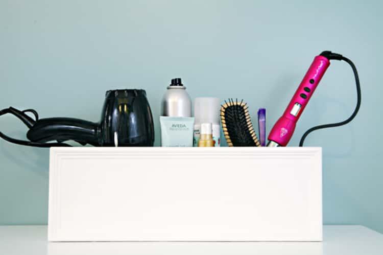 build a simple box for a hair tool organizer