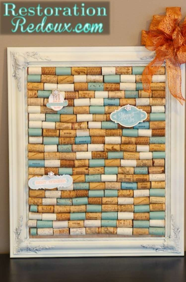 Wine Cork Crafts DIY Bulletin Board