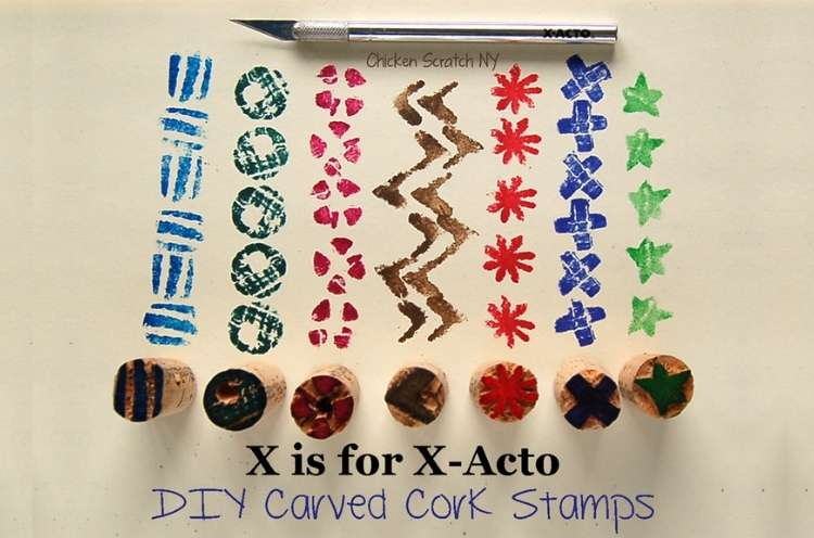 Wine Cork Crafts Cork DIY Stamps for Kids