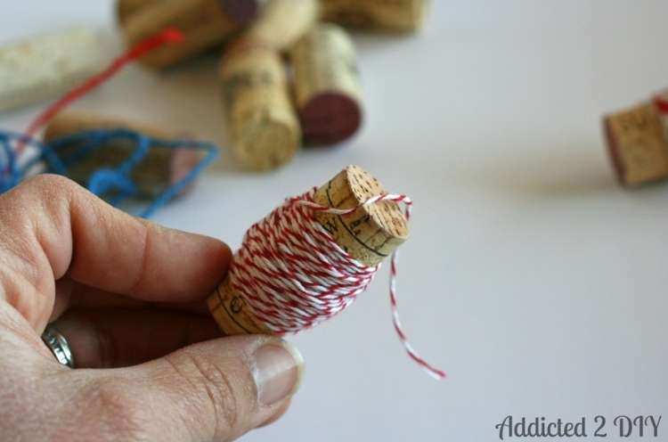Wine Cork Crafts DIY Spools for Thread