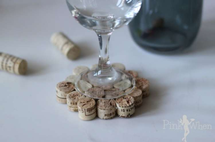 Wine Cork Crafts Wine DIY Cork Coasters