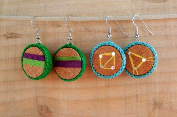 Wine Cork Crafts Wine DIY Cork Earrings