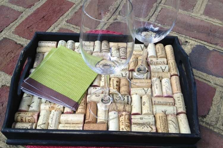 Wine Cork Crafts DIY Wine Cork Tray