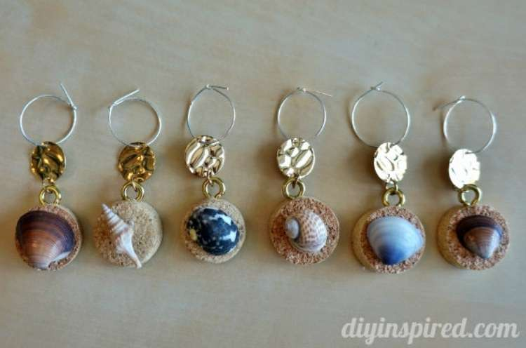 Wine Cork Crafts DIY Wine Glass Chimes Charms