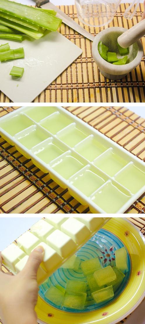 Create Aloe sunburn relief cubes