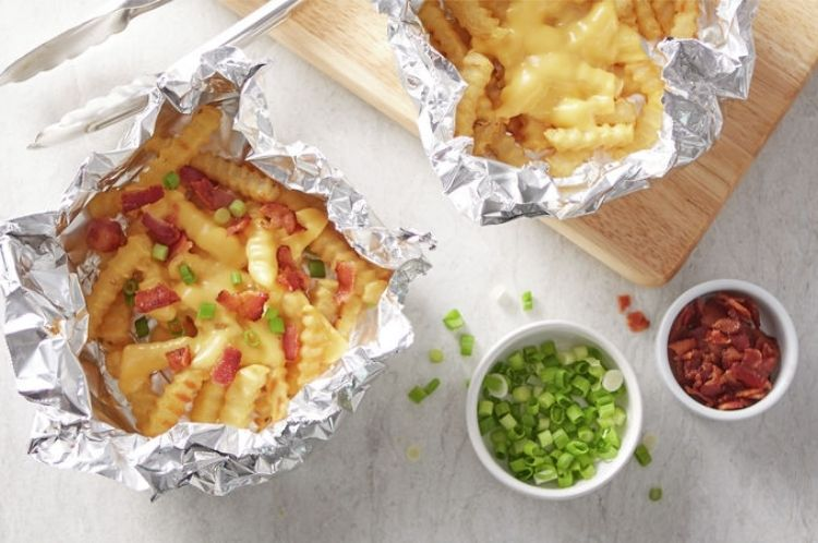 foil packet cheese fries