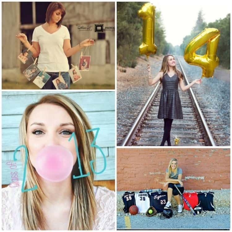 collage of gorgeous senior picture ideas for girls