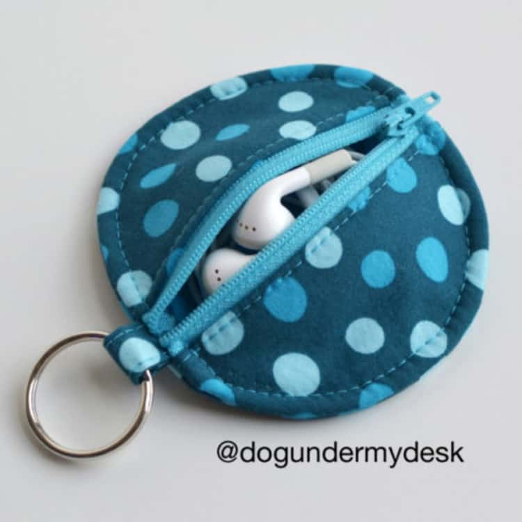 key ring pouch earbuds case