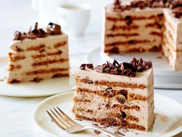 Nothing like this coffee-filled mocha chocolate icebox cake for a warm morning