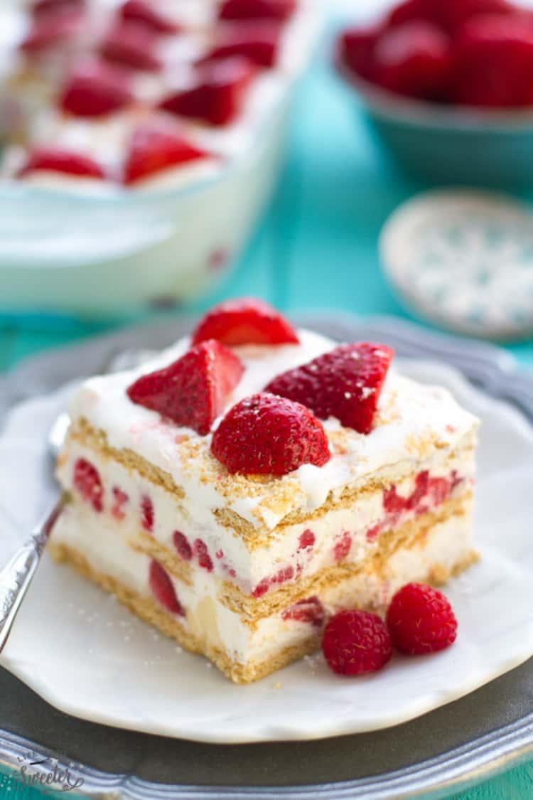 Strawberry Cheesecake Icebox Cake