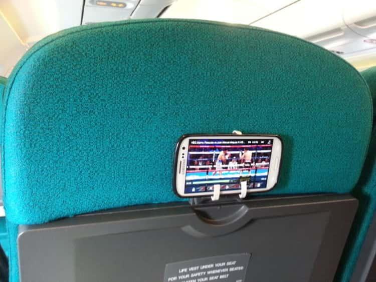 Travel tips Airline barf bag becomes holder for smart phone